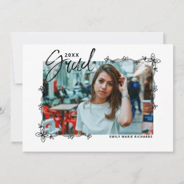 Graduation Photo Collage Announcement Card