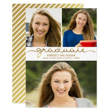 Graduation Photo Collage Easy DIY Template
