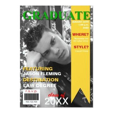 Graduation Photo Magazine Cover