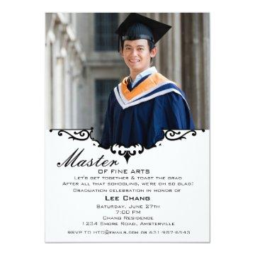Graduation Photo Mantle Invitation