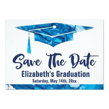 Graduation Save The Date Simple Elegant Watercolor