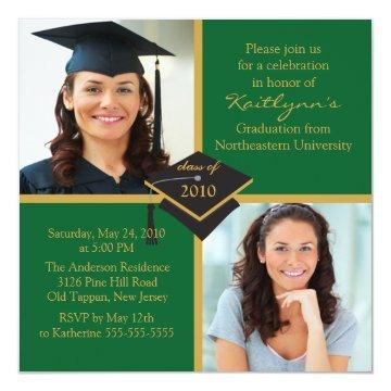 Green & Gold Photo Graduation