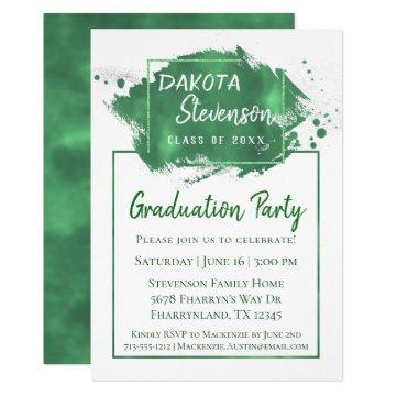 Green Graduation | Paint Splatter Chic Grad Party