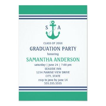 Green Nautical Graduation Party