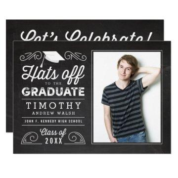 Hats Off Graduation Chalkboard