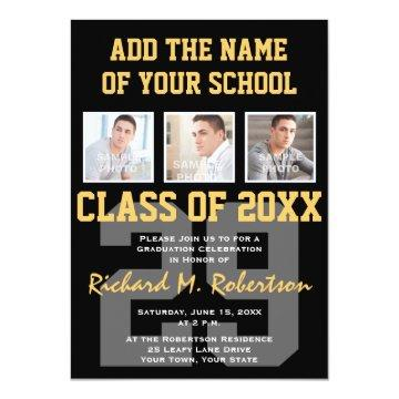 High School Athlete Team Colors Graduation Card