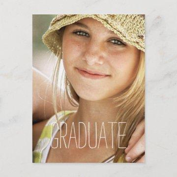 High School Graduation Party Modern Photo Graduate Invitation Postcard