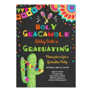 Holy Guacamole Fiesta Graduation Invitation party