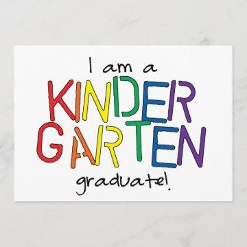 I Am a Kindergarten Graduate Announcement