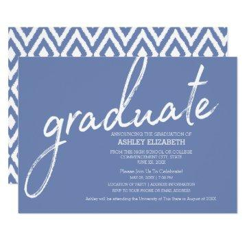 Ikat Modern Graduation Announcement Invite