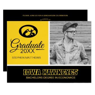 Iowa Hawkeyes Graduation Invitation
