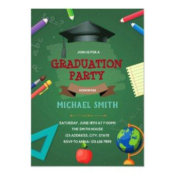 Kindergarten Graduation party invitation
