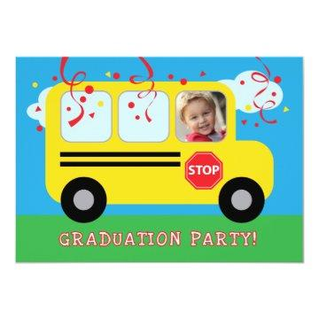 Kindergarten or Preschool Graduation Photo Invitat