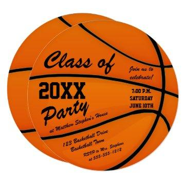lass of 2018 Basketball Themed Graduation Party Card