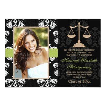 Law School Graduation Announcement  Lime