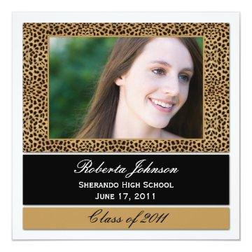 Leopard Print Photo Graduation