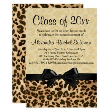 Leopard Print with Bow Graduation/Party
