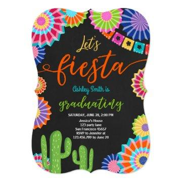 Let's Fiesta Graduation Invitation Mexican party