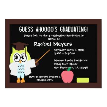 Little Graduate Owl Invite