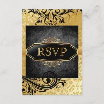 Luscious Vintage Gold Scroll Rsvp