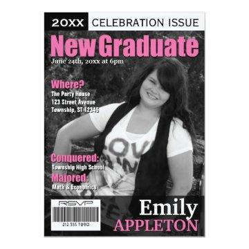 Magazine Cover Fuchsia Graduation
