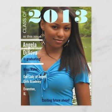 magazine cover graduation announcement