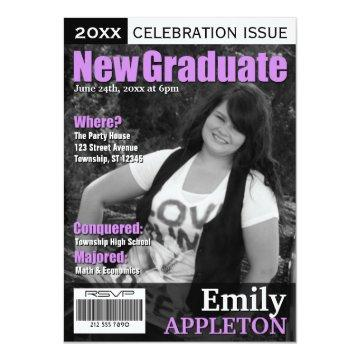 Magazine Cover Purple Graduation