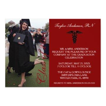 Maroon Medical RN School Graduation Announcement