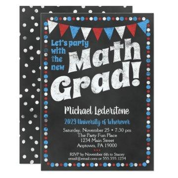 Mathmatics Graduation Party  Red Blue