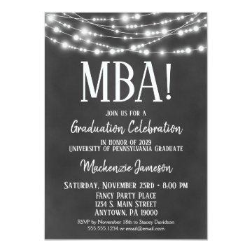 MBA Business Admin Graduation Party