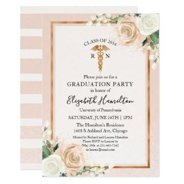 Medical Nursing School Graduation Party Rose Gold