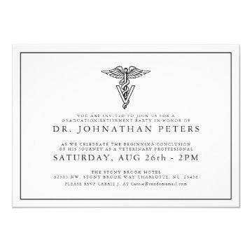Minimal Veterinary Graduation|Retirement Invite