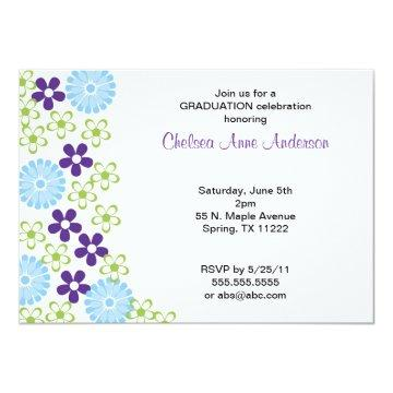 MOD Floral Fall Graduation or Birthday Invite
