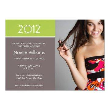 Modern Blocks Graduation Invitation - lime