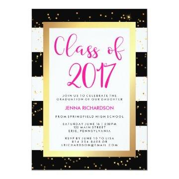 Modern Confetti | Class of 2017 Graduation Party Card