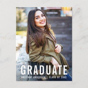 Modern Cool Graduation Party Photo W Invitation