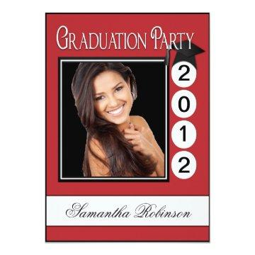 Modern Fun Graduation Party Custom Photo
