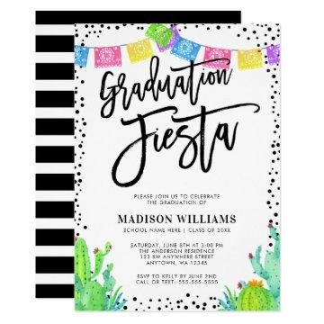 Modern Mexican Fiesta Graduation Party Invitation