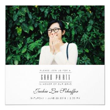 Modern & Minimal Graduation Photo Invite