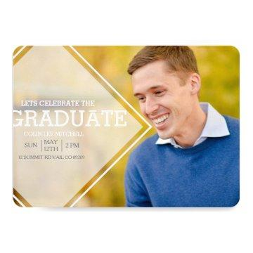 Modern Opaque Overlay | Graduation Party Photo Invitation