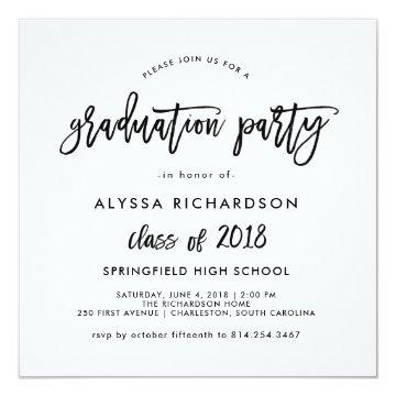 Modern Script | 2018 Graduation Party Invitation