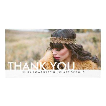 Modern Simple Graduate Thank You Typography Card