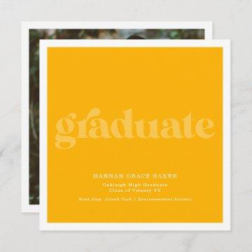 Modern Trendy Two Tone | Simple Graduation Photo