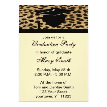 Monogram Leopard Print Graduation Party