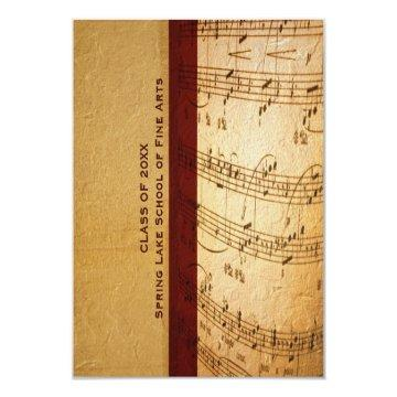 Music School or Performing Arts Academy Graduation Card