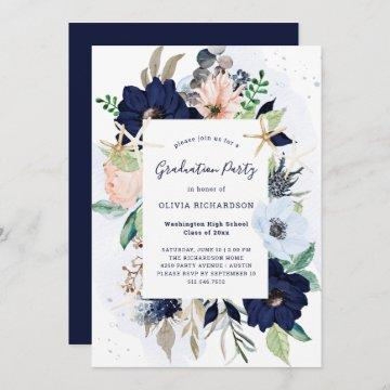 Nautical Flowers | Graduation Party Invitation