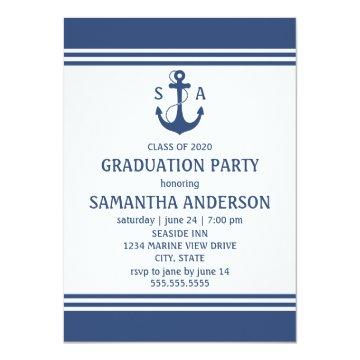 Navy Blue Nautical Graduation Party