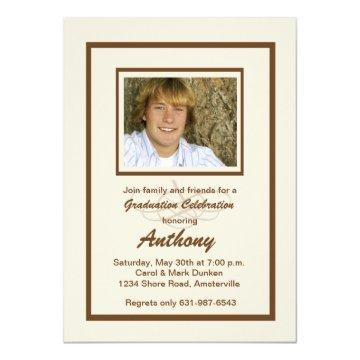 Noteworthy Photo Graduation Invitation