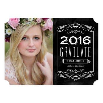 Ornate Chalkboard Graduation