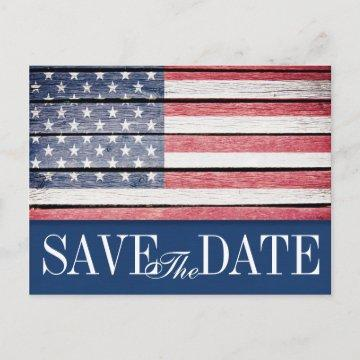 Patriotic Save the Date Postcard